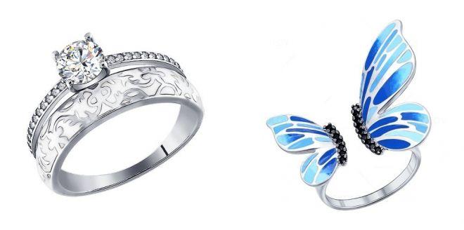серебряное кольцо с эмалью соколов