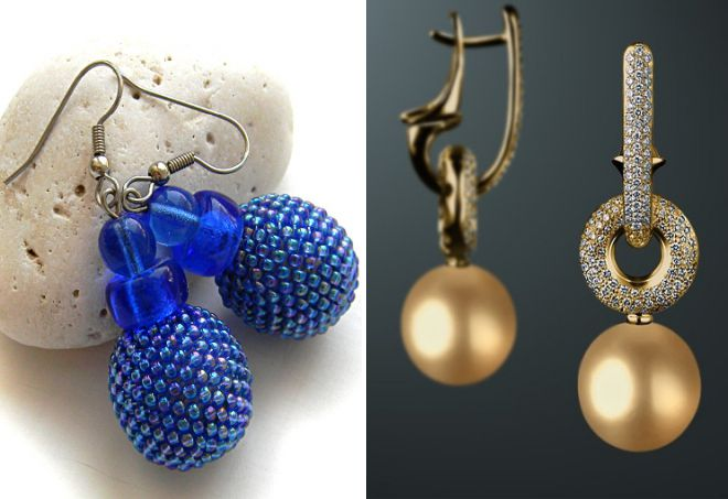 брендовые серьги шарики