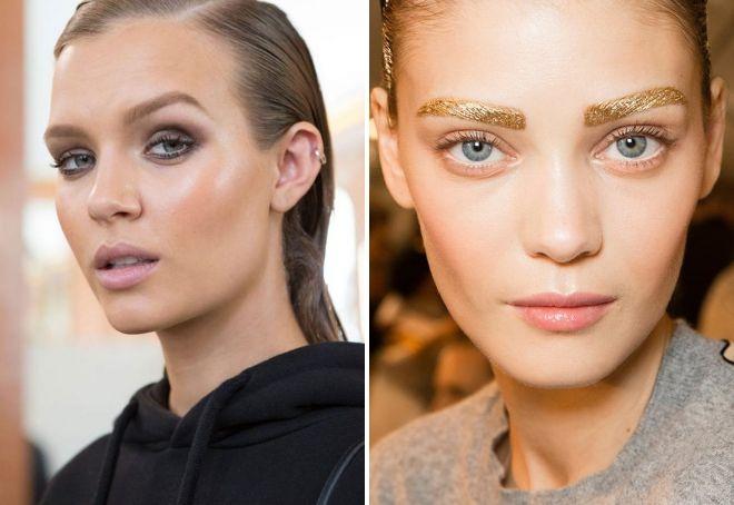макияж бровей 2019