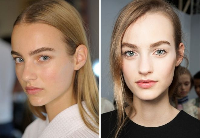 нюдовый макияж 2019