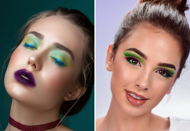 яркий макияж 2019