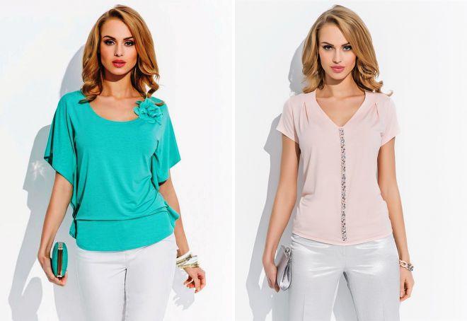 модели блузок из трикотажа