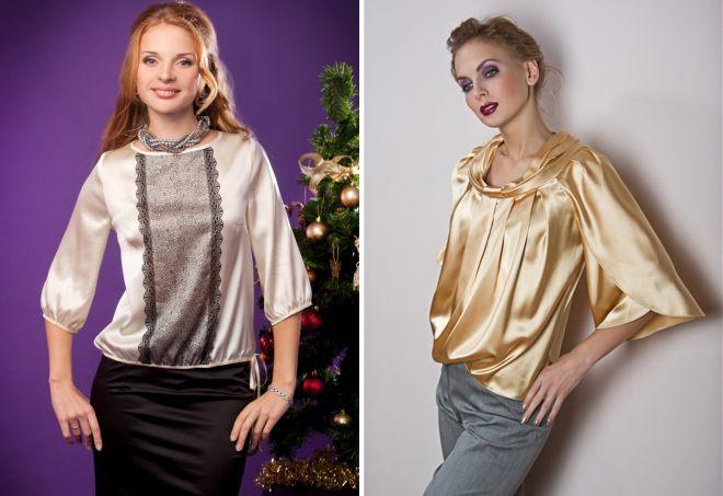 фасоны шелковых блузок