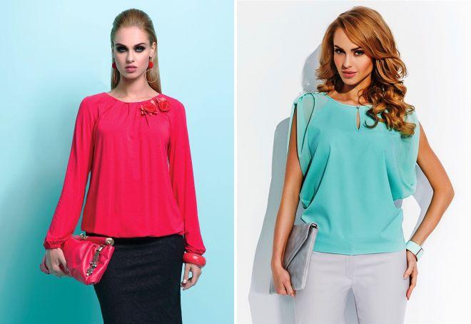 модные модели блузок