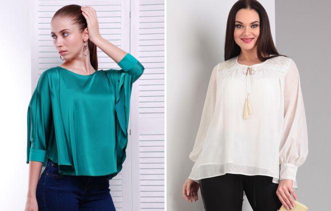 модель блузки свободного покроя