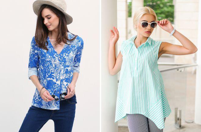 интересные модели блузок