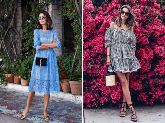 images d'été 2018 avec une robe