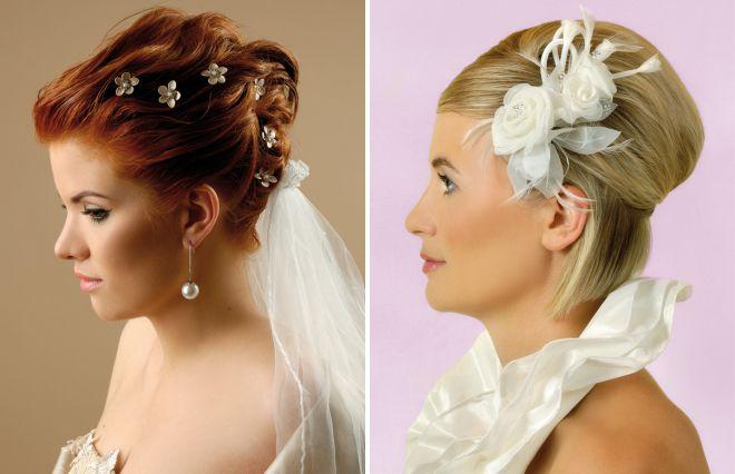 модные свадебные прически 2018 на короткие волосы