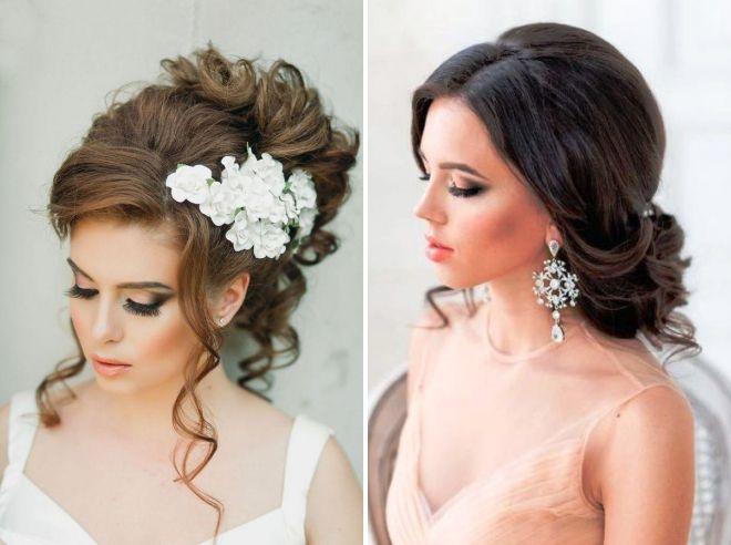свадебные прически мода 2018