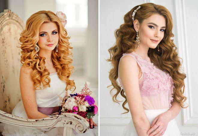 свадебные прически с распущенными волосами 2018