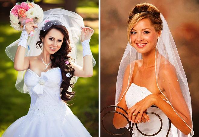 модные свадебные прически 2018 с фатой