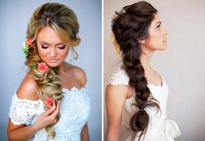 модные свадебные прически 2018 на длинные волосы