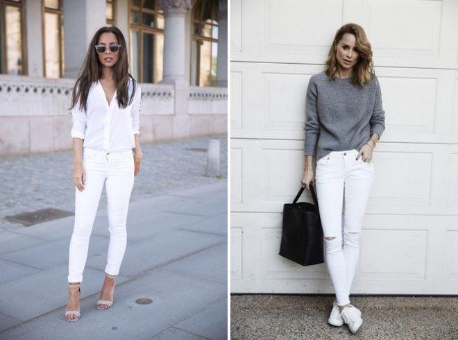 653fe64aed0 С чем носить белые джинсы – классические