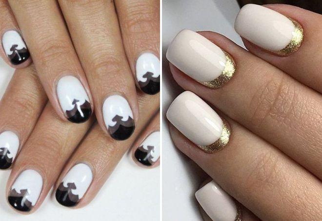 белые ногти дизайн 2018