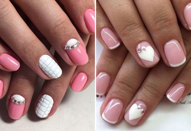 розовый маникюр 2018 на короткие ногти