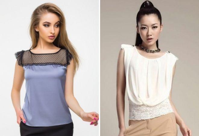 модели шелковых блузок