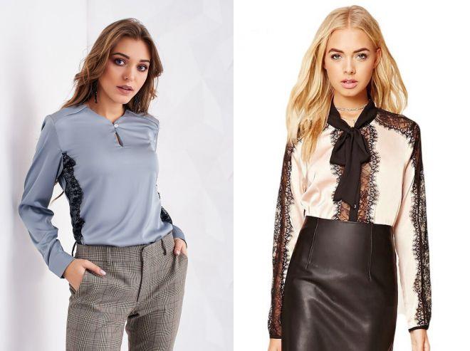 женские шелковые блузки