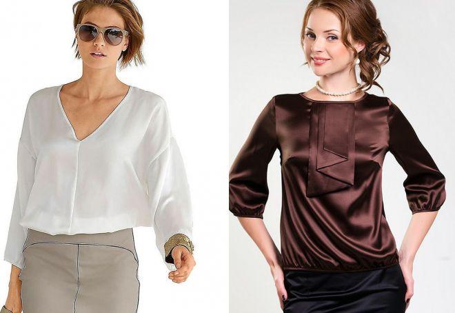 829c9e797d8 Модные женские блузки из шелка – красивые фасоны