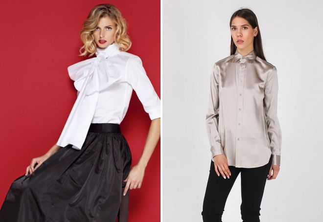 женские брендовые блузки из шелка