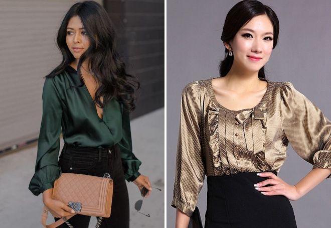 модные шелковые блузки 2018