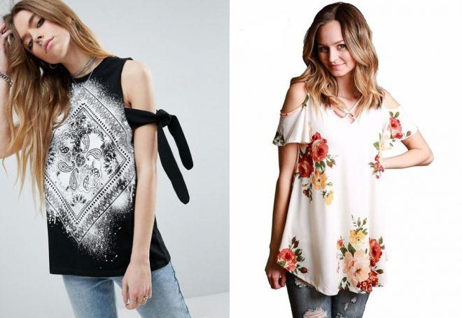женская футболка на одно плечо с бретелькой