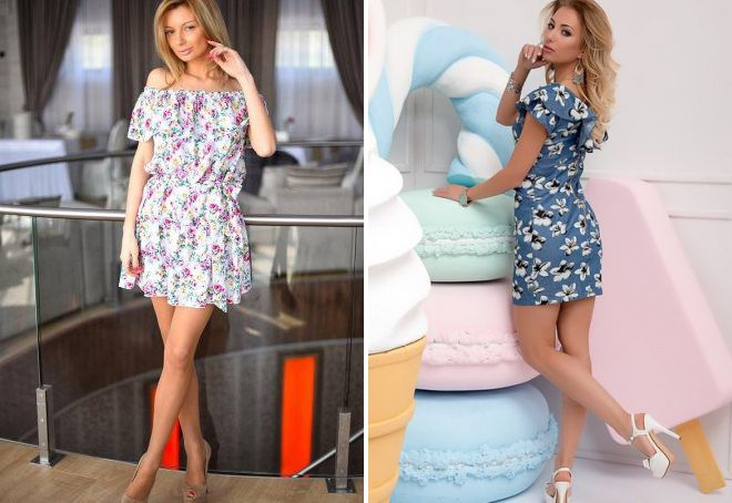 ae52a030ce9b Красивые короткие летние платья – повседневные, из шифона, с ...