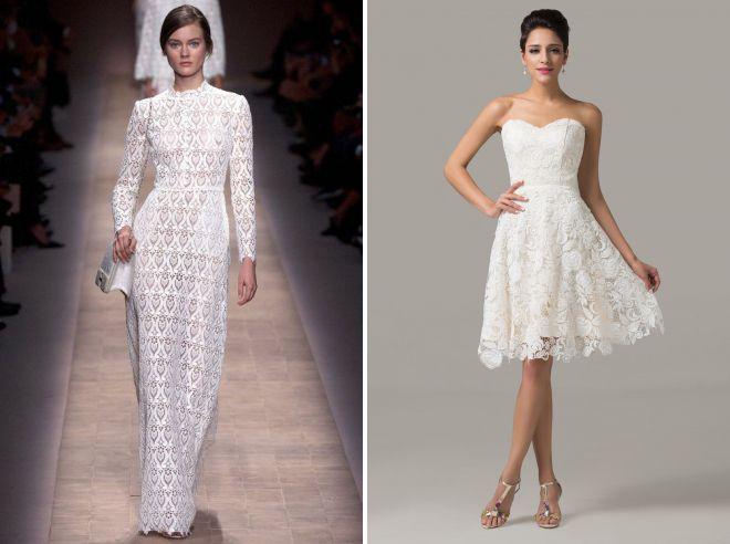 кружевные летние свадебные платья