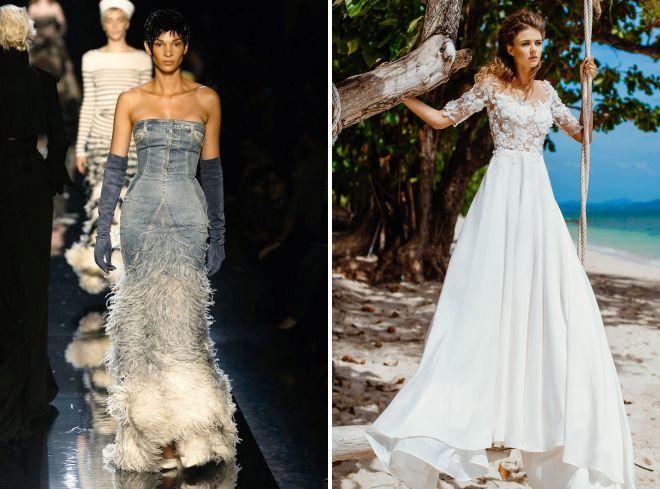 летние свадебные платья для моря