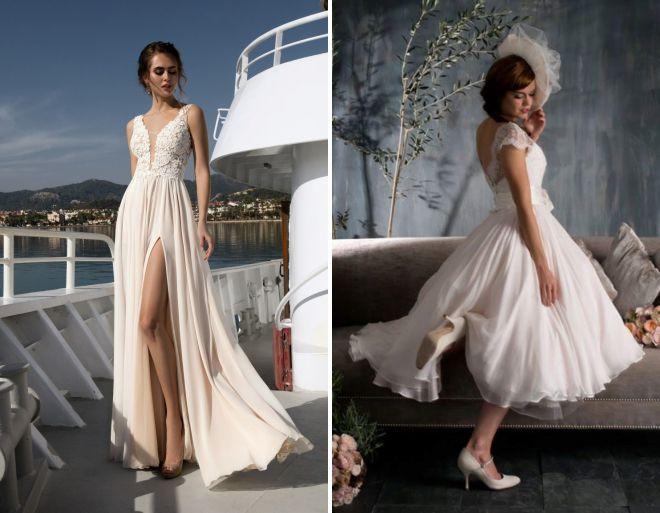 свадебные платья модные тенденции лето