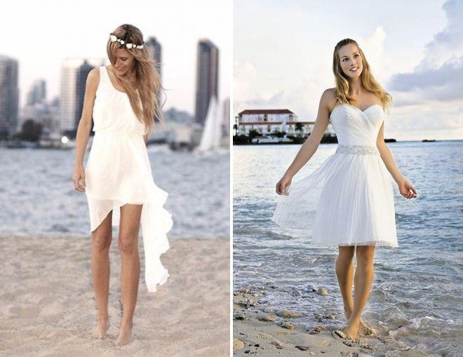летнее свадебное платье для пляжа