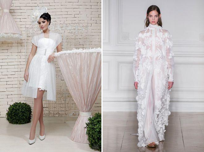накидка на свадебное платье летом