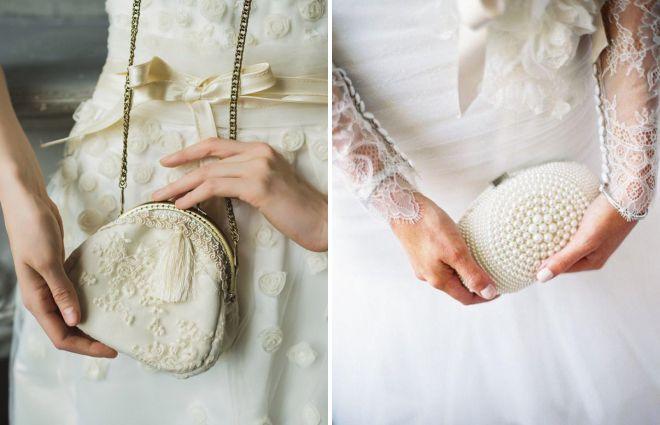 сумки к летнему свадебному платью