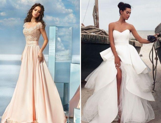 летнее свадебное платье в пол