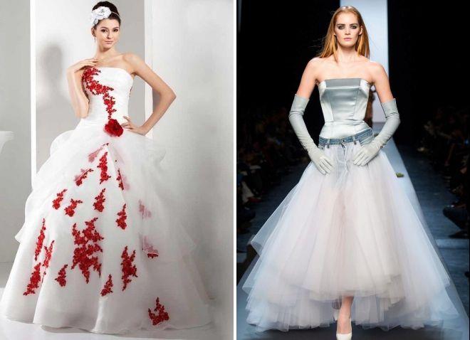 летние пышные свадебные платья