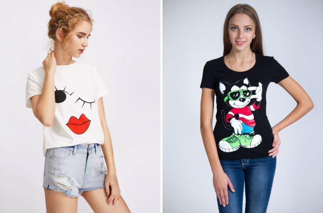 футболки с модными принтами