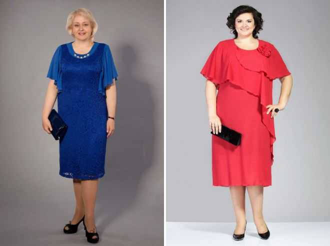 8d99b5f2f59 Платья для пожилых женщин – с обычной фигурой