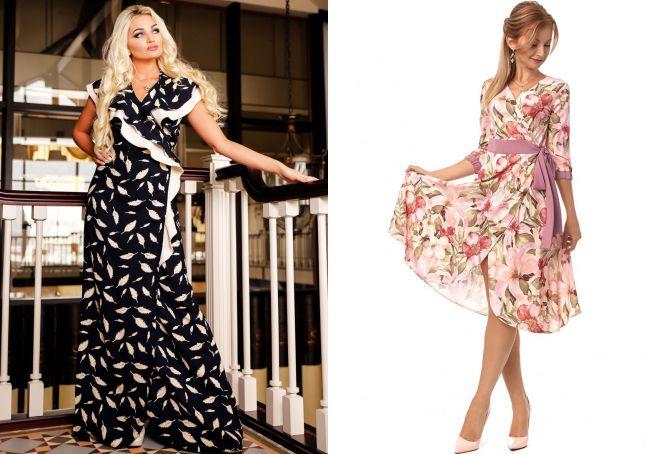 модели платьев из штапеля