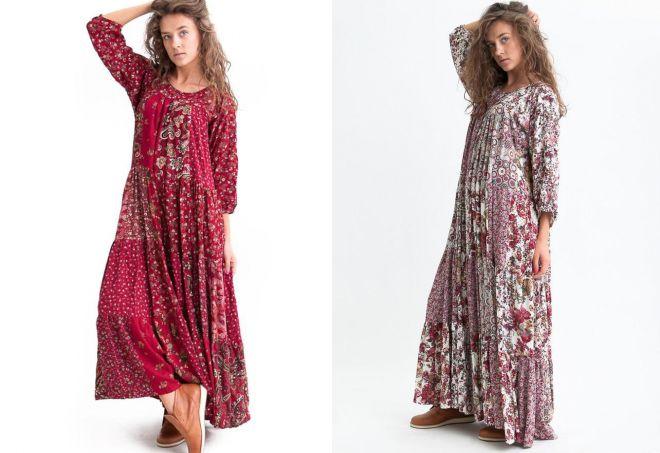 платья пэчворк из штапеля