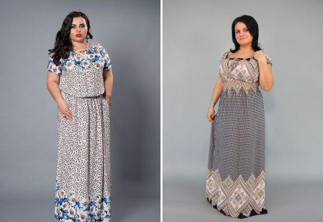 платья из штапеля для полных женщин