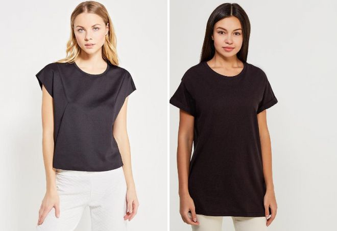черная футболка с коротким рукавом