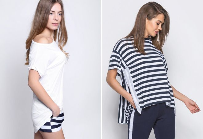 длинные футболки для девушек