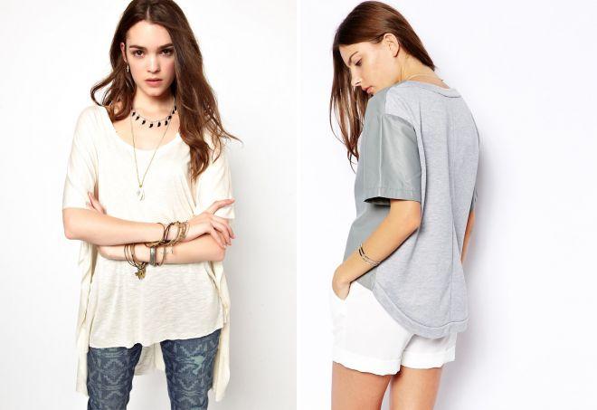 футболка спереди короткая сзади длинная