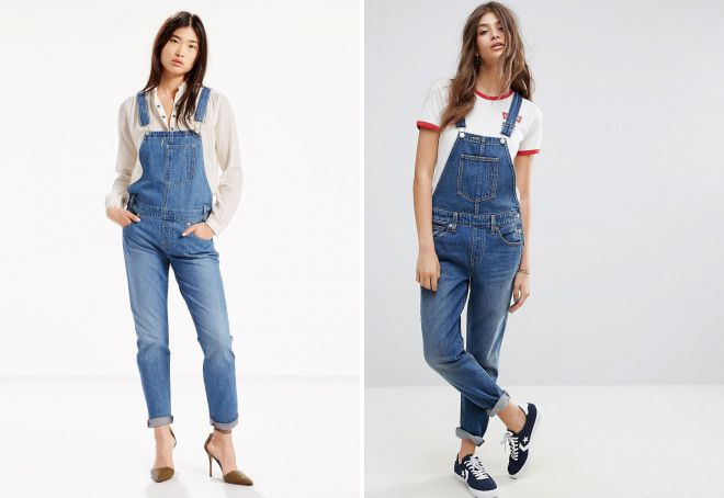 Классический джинсовый комбинезон