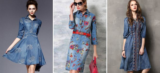 dec5c479aeff1bf Модное джинсовое платье-рубашка − длинное в пол, миди, короткое, с ...