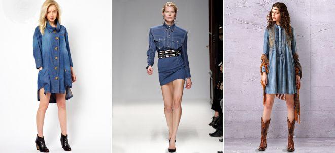 джинсовое платье рубашка с босоножками.
