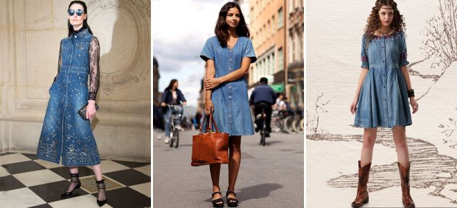 джинсовые платья рубашки для девушек