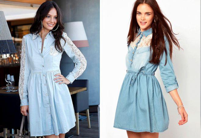 Летнее джинсовое платье рубашка
