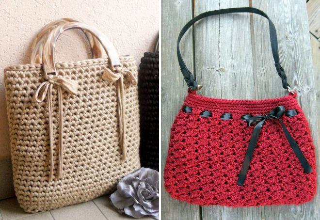 модные вязаные летние сумки