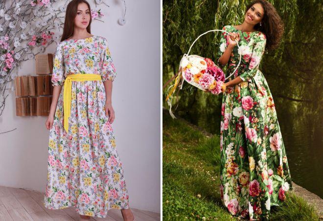 платья цветочный принт 2018