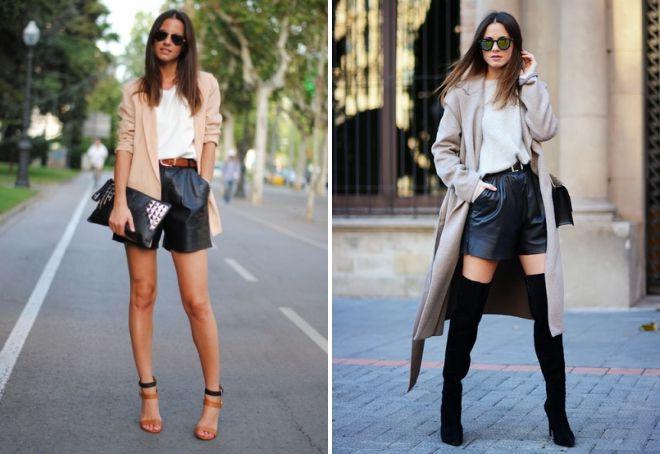 черные короткие женские шорты